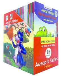 Shree Book Centre Aesops Fables And Other 15 Stories Display Box 48 Titles - 1 Each