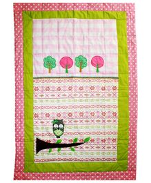 Kadambaby Wise Owl Kids Quilt - Pink