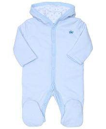 FS Mini Klub Full Sleeves Hooded Sleepsuit - Sky Blue