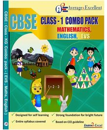 Average2excellent CBSE Class 1 Combo Pack - English EVS Mathematics