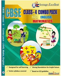 Average2excellent CBSE Class 4 Combo Pack - English EVS Mathematics