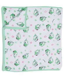 Tinycare Fish Print Towel - Green