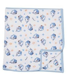 Tinycare Fish Print Towel - Blue