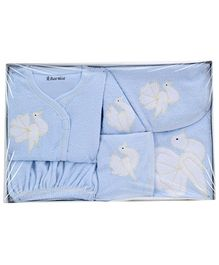 Child World Baby Clothing Gift Box Bird Design - Sky Blue