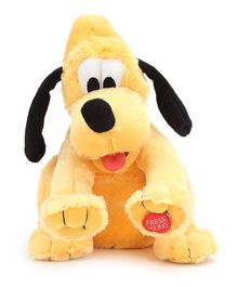 Disney Crazy Laughing Pluto Soft Toy With Swinging Head