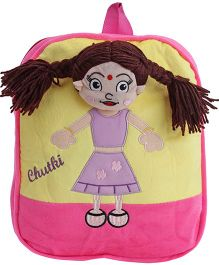Dimpy Stuff Chutki Back Pack - Pink N Yellow