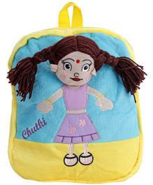 Dimpy Stuff Chutki Back Pack - Yellow N Blue