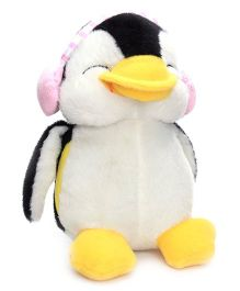 Dimpy Stuff Penguin with Pink Ear Muffs - 20 cm
