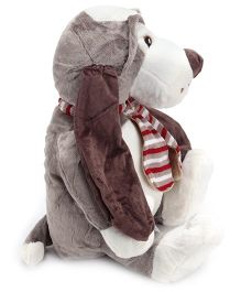 Play N Pets Slate Grey Sitting Dog Soft Toy - 40 Cm