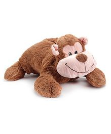 Play N Pets Monkey Convertible Cushion Soft Toy - 40 Cm