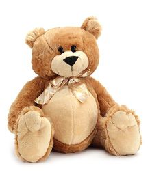 Play N Pets Light Brown Bear With Ribbon Soft Toy - 30 Cm