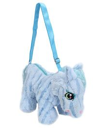 Play N Pets Horse Shaped Blue Shoulder Bag - 35 Cm