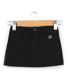 Beebay A Line Corduroy Skirt -  Black