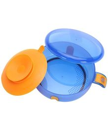 Mothercare Tiny Dining Large Feeding Bowl With Suction Pad And Lid - Blue