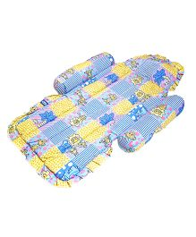 Little's Compact Bed Giraffe Print - Blue