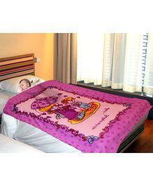 Casa Joya Baby Blanket Planet Love Is Print - Purple