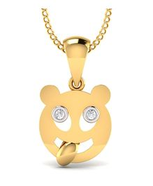 Mani Jewel Kids Collection 10Kt Hallmarked Gold Pendant - Teddy Shape