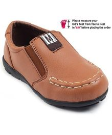 Cute Walk Semi Formal Shoes - Brown