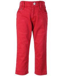 Gini & Jony Red Full Length Trouser - Back Pockets