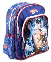 WWE Backpack John Cena Print Blue - 14 Inches