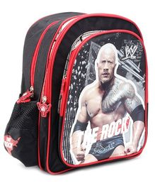 WWE Backpack The Rock Print Black - 14 Inches
