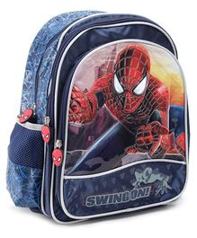 Marvel Spider Man Backpack Swing On Navy Blue - 16 Inches