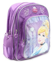 Disney Princess Backpack Cinderella Purple - 14 Inches