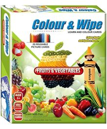 Apple Fun Colour And Wipe Card - Fruits And Vegetables