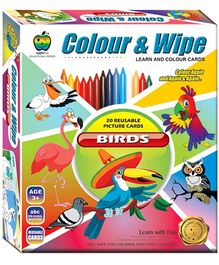Apple Fun Colour And Wipe Birds Cards - 3 Years Plus
