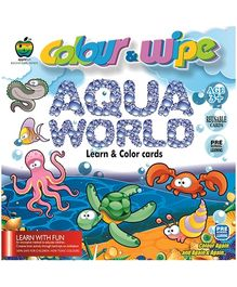 Apple Fun Colour And Wipe Cards Aqua World Mini  - 3 Years Plus