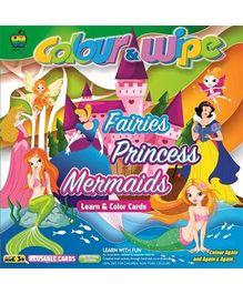 Apple Fun Colour And Wipe Fairies Princess Mermaid Mini Cards - 3 Years Plus