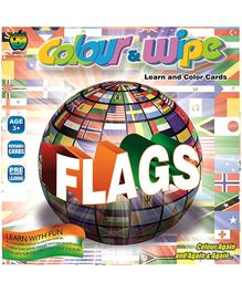Apple Fun Colour And Wipe Cards Flags - 3 Years Plus