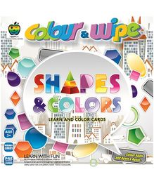 Apple Fun Colour And Wipe Cards - Shapes And Colour