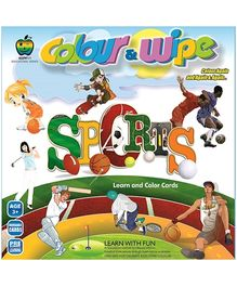 Apple Fun Colour And Wipe Cards Sports Mini - 3 Years Plus