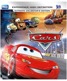 Disney Pixar Cars 3D Blue Ray Disc - English