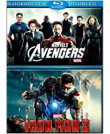 Marvel Avengers And Iron Man 3 English - Blue Ray Disc