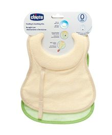 Chicco Feeding and Soothing Bibs - Set of 2