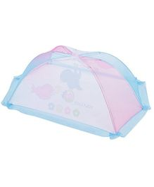 Tollyjoy Baby Mosquito Net Bird Print - Blue And Pink