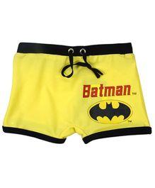 Batman Yellow Swim Trunk With Fastening