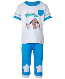 FS Mini Klub Grey Half Sleeves T Shirt And Legging Set