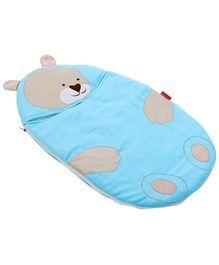 Sapphire Blue Teddy Applique Sleeping Bag