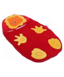 Sapphire Red Tiger Applique Sleeping Bag