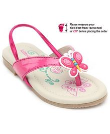 Kittens Pink Baby Sandal With Butterfly Applique