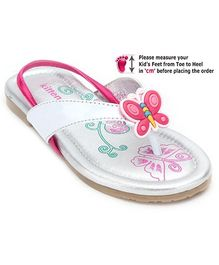 Kittens White Baby Sandal With Butterfly Applique