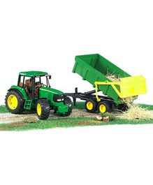 Bruder John Deere Tractor With Tipping Trailer