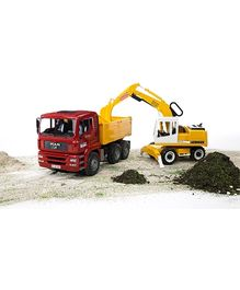 Bruder MAN TGA Construction Truck And Liebherr Excavator