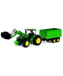 Bruder John Deere 7930 With Front Loader And Tipping Trailer