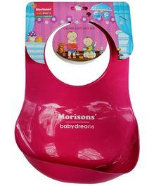 Morisons Baby Dreams Crumb Catcher Bib - Pink