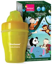 Morisons Baby Dreams Safari Insulated Straw Sipper Yellow - 120 ml