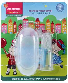 Morisons Baby Dreams Teething Finger Brush With Hygiene Case (Color May Vary)